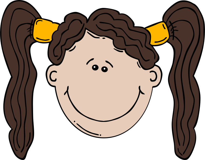 Free Girl Face Cartoon