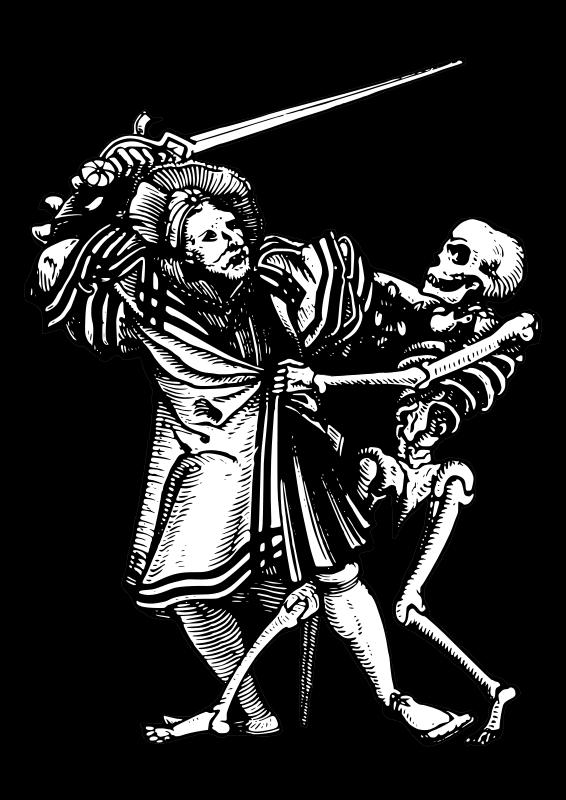 Free Clipart: Man fighting death | AJ