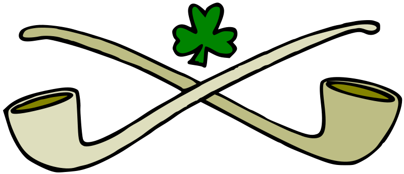 Free Pipes and shamrock