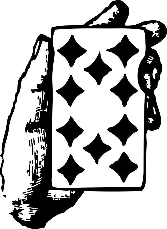 Free hand with ten of diamonds