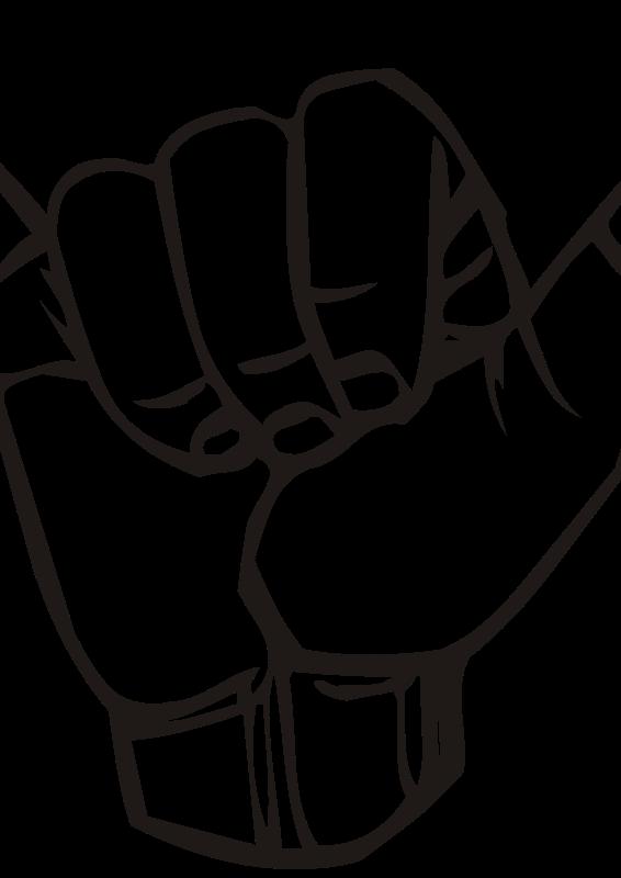 Free Sign language Y, hang loose