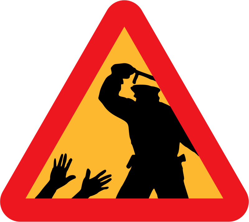 free clipart warning for police brutality liftarn rh 1001freedownloads com warning clipart free clipart warning sign