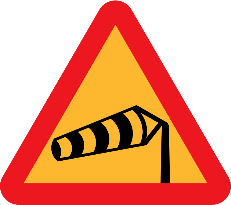 Free Windsock pointing left sign