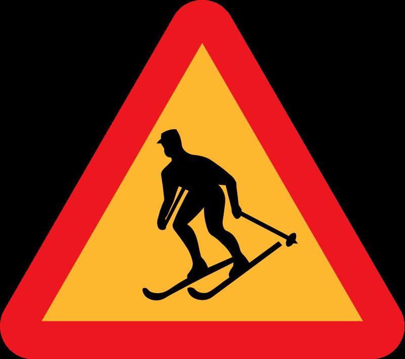 Free Skiier Sign