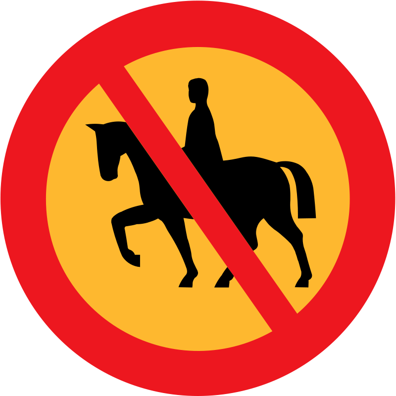 Free No horse riding sign