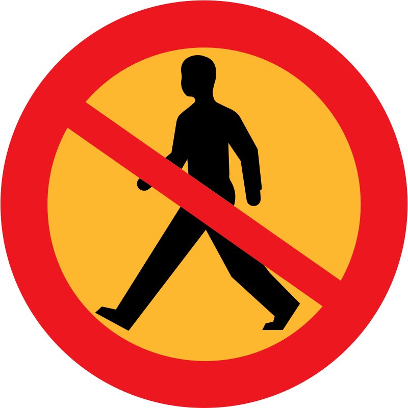 Free No entry sign with a man