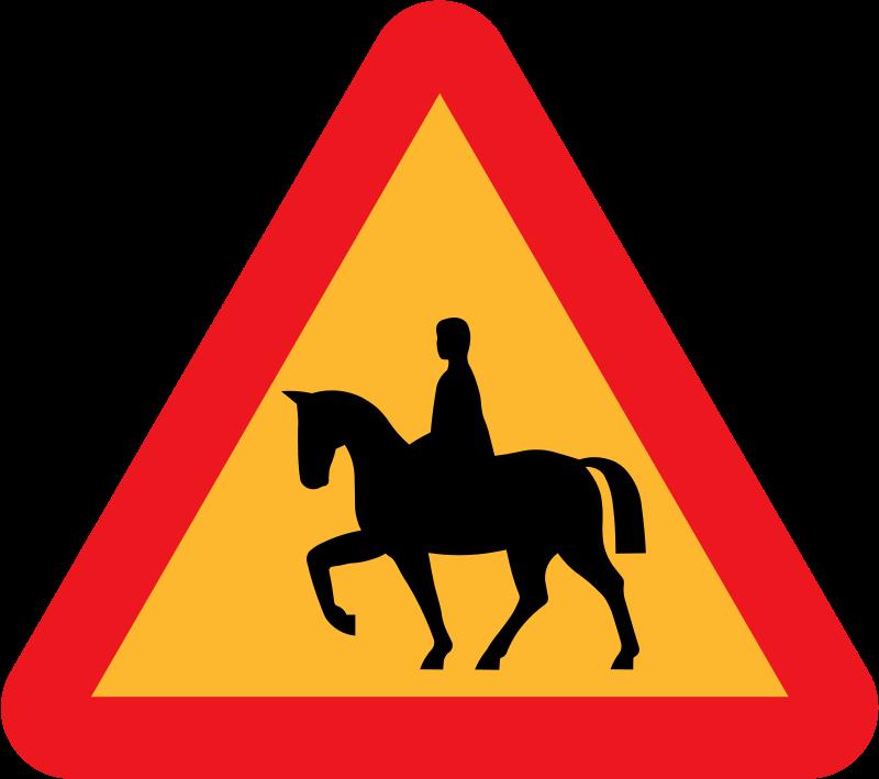 Free Horserider roadsign