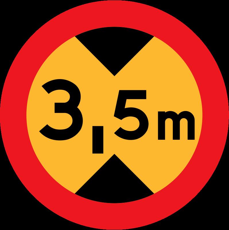 Free 3.5 m sign