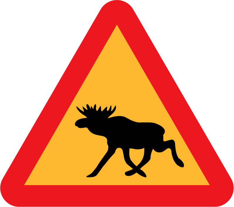 Free Warning Moose Roadsign