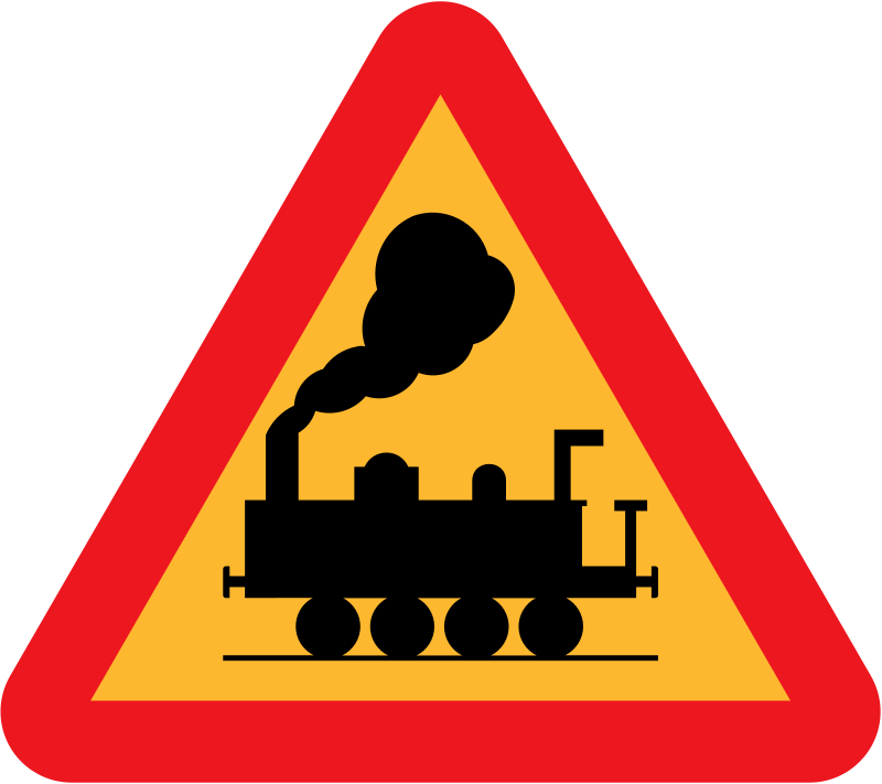 Free train roadsign