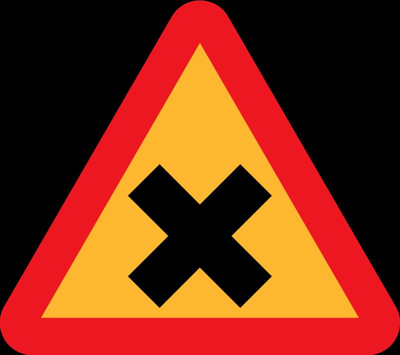 Free Cross Road Sign