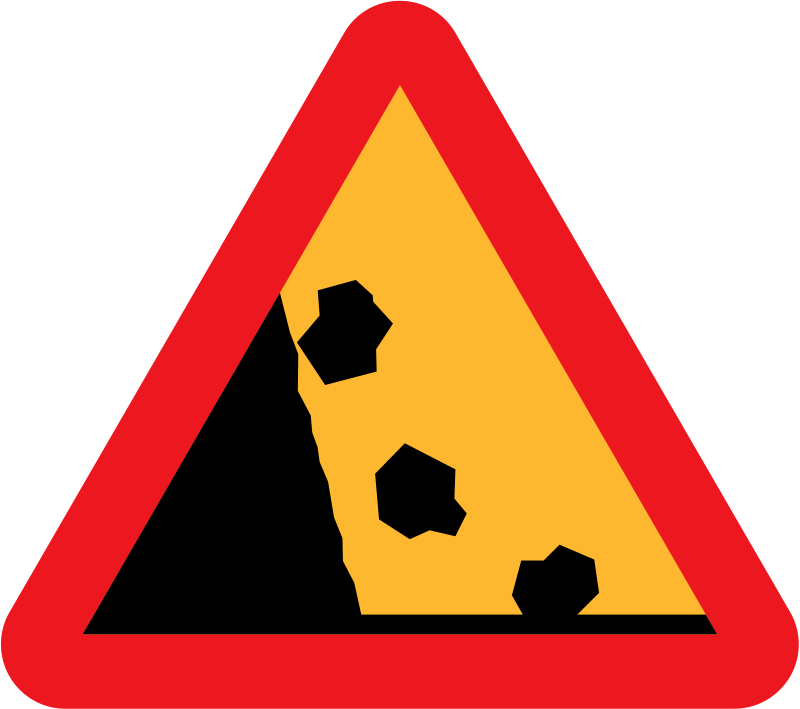 Free Falling Rocks from the LHS roadsign