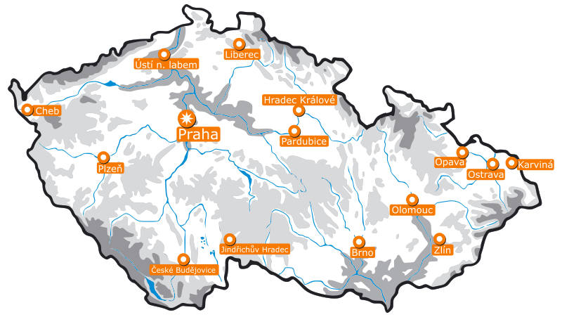 Free Map of the Czech Republic