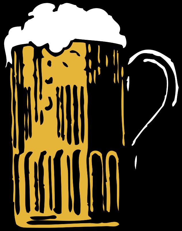 Free foamy mug of beer