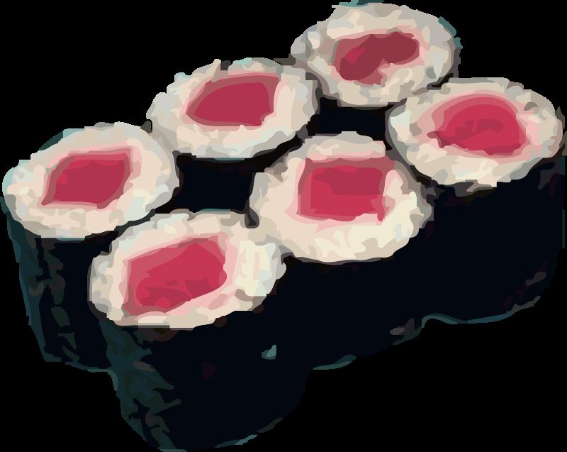 Free tekka maki sushi