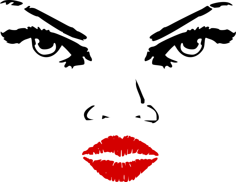 Free Clipart: Woman eyes nose lips | zeimusu