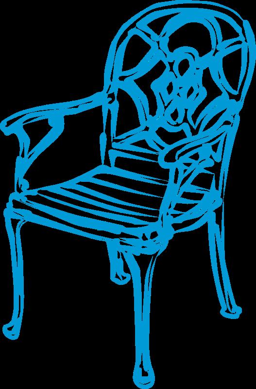 Free slim blue chair