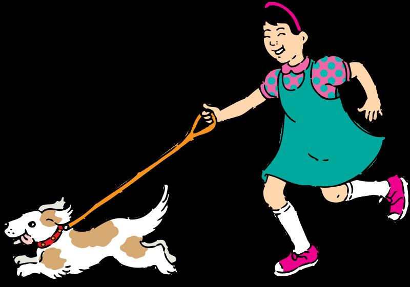 Free Clipart: Walking dog | Animals