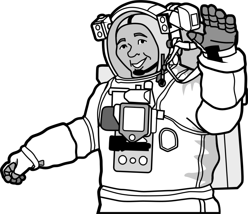 Free smiling astronaut