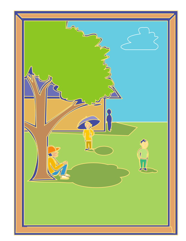 Free kids framed scene