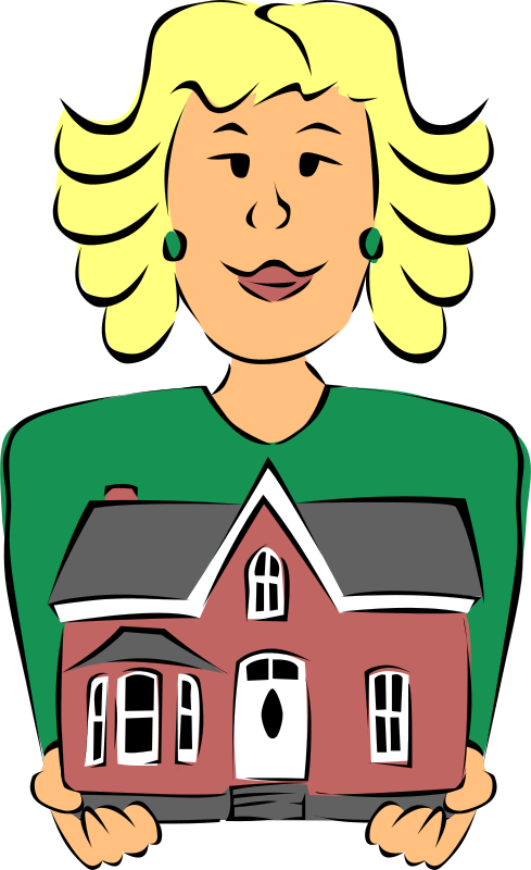 Free Clipart Real Estate Agent Holding House Gerald G