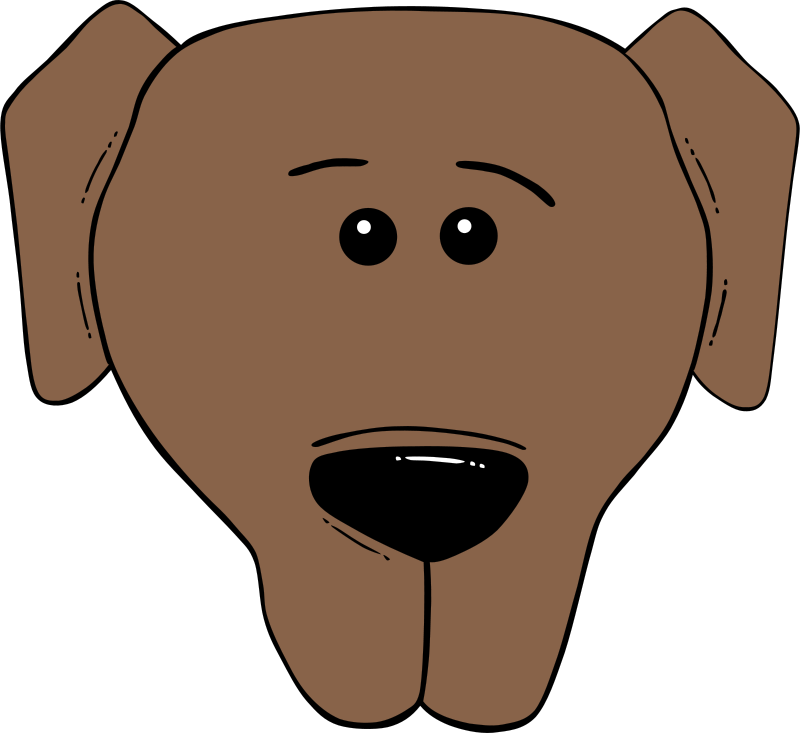 Free Dog Face Cartoon - World Label