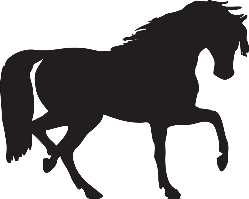 Free horse silhouette