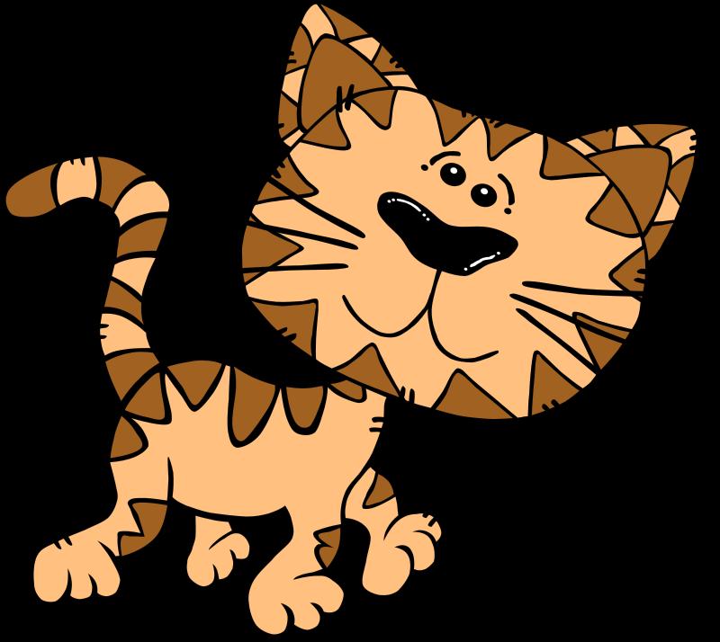 Free Cartoon Cat Walking