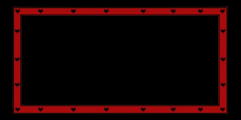 Free border hearts 4X2