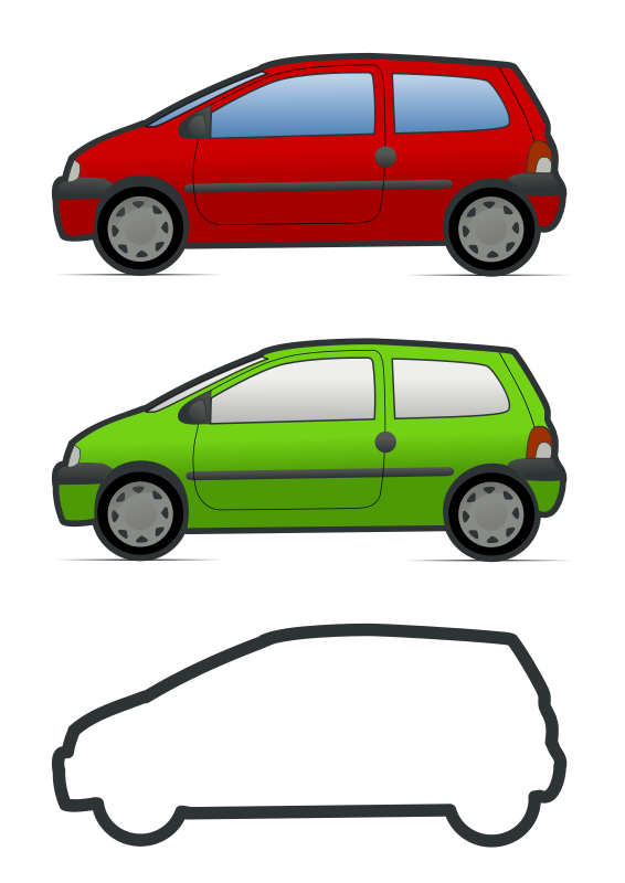 Free Clipart: Red and green renault twingo | molumen