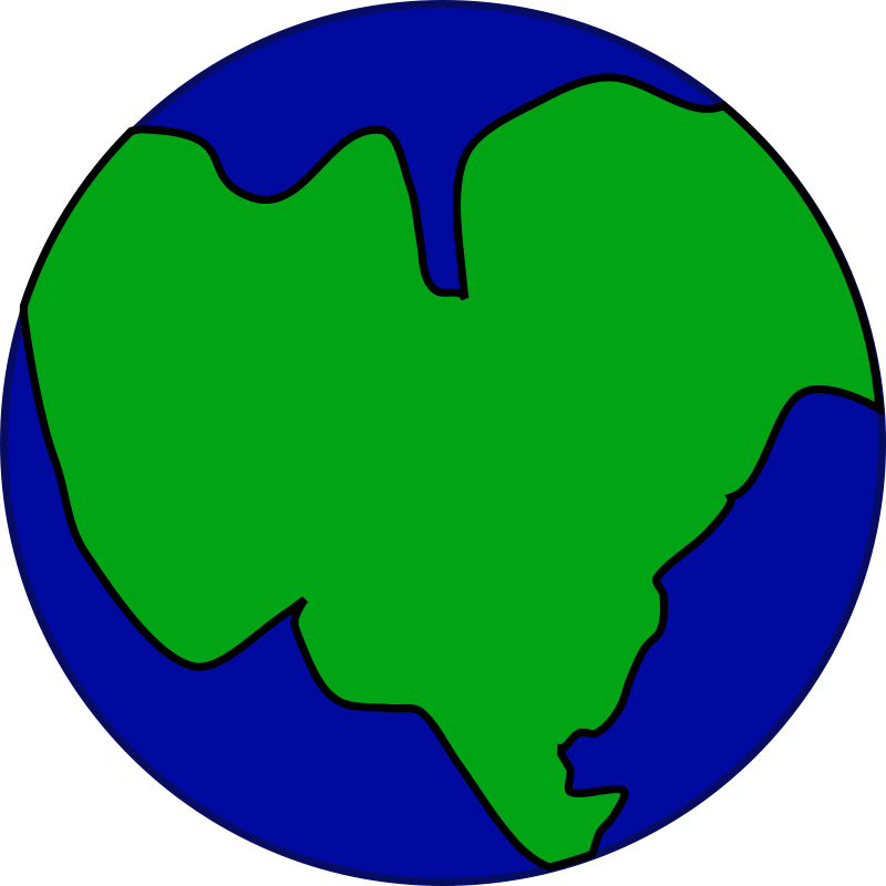 Free Earth with one continent
