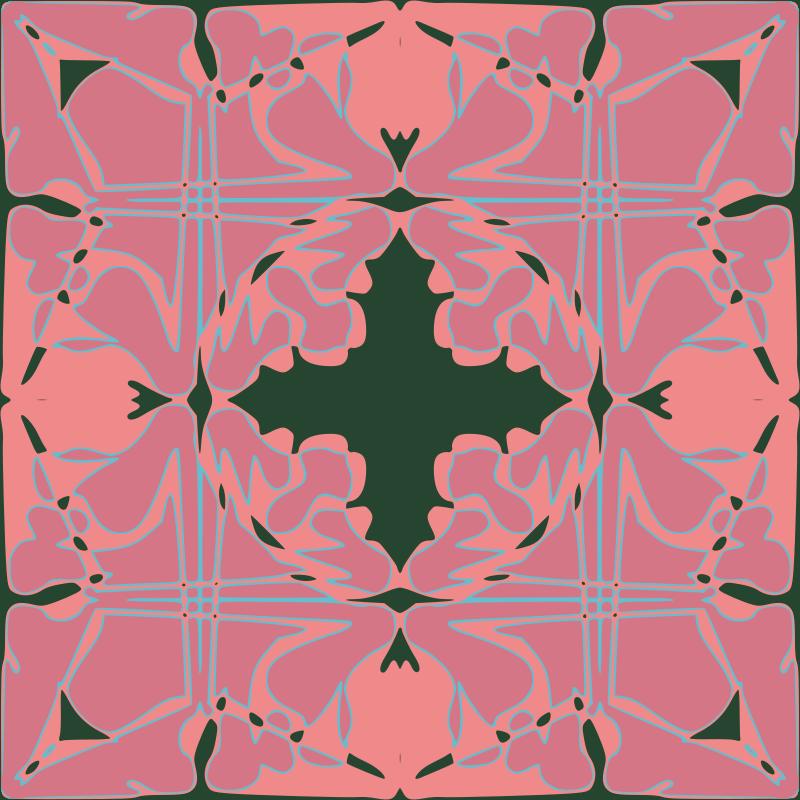 Free Art Nouveau Tile Pattern