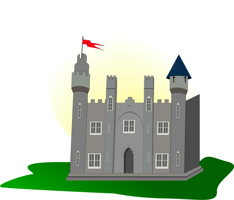 Free Castle with flag