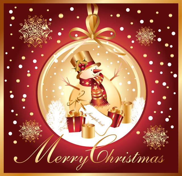 Free Decorative Christmas Snowman inside Bauble