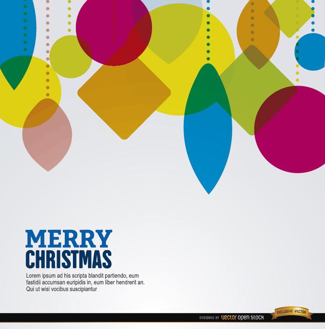 Free Christmas geometric shapes hanging background