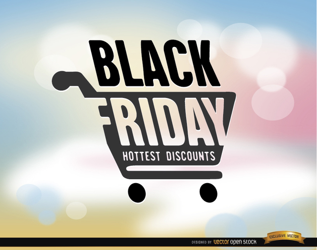 Free Black Friday shopping cart background