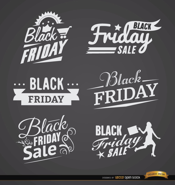 Free 6 Black Friday sales labels