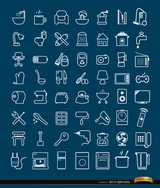 Free 56 House objects and tools Icons