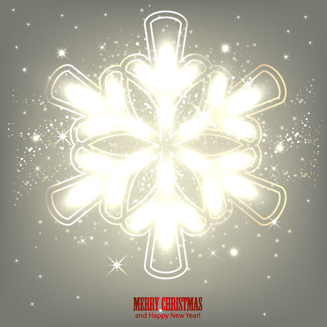 Free Glowing Arrow Formed Snowflake Grey Background