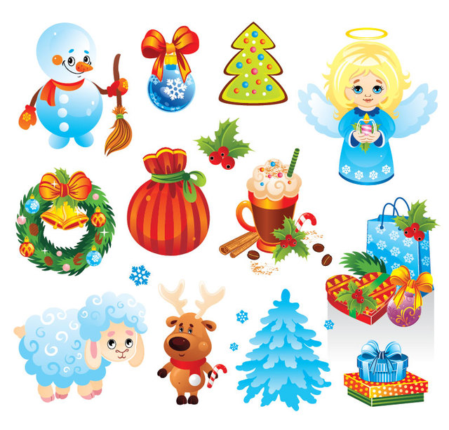 Free Funky Christmas Stuff & Ornament Pack