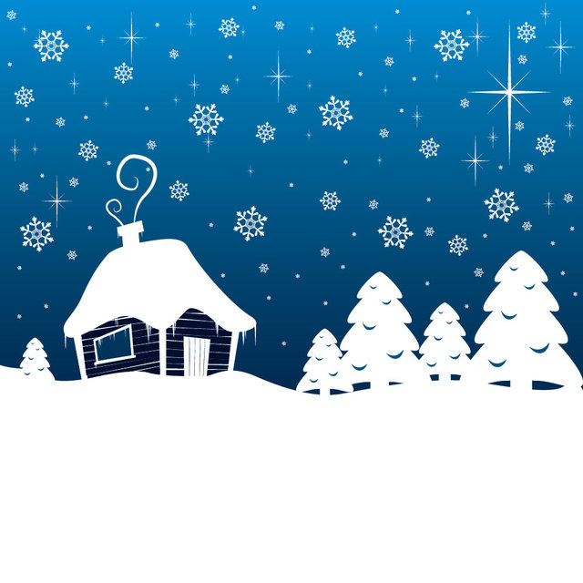 Free Snowy Landscape Christmas Greeting Card