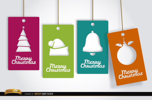 Free 4 Christmas tag cards