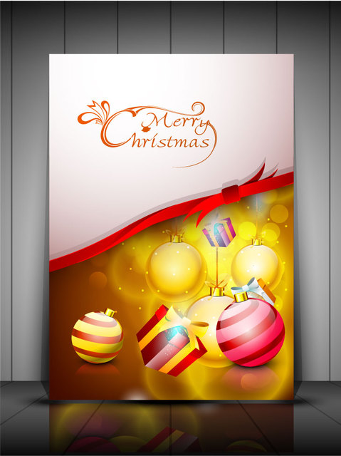 Free Shiny Stylish Christmas Greeting Card