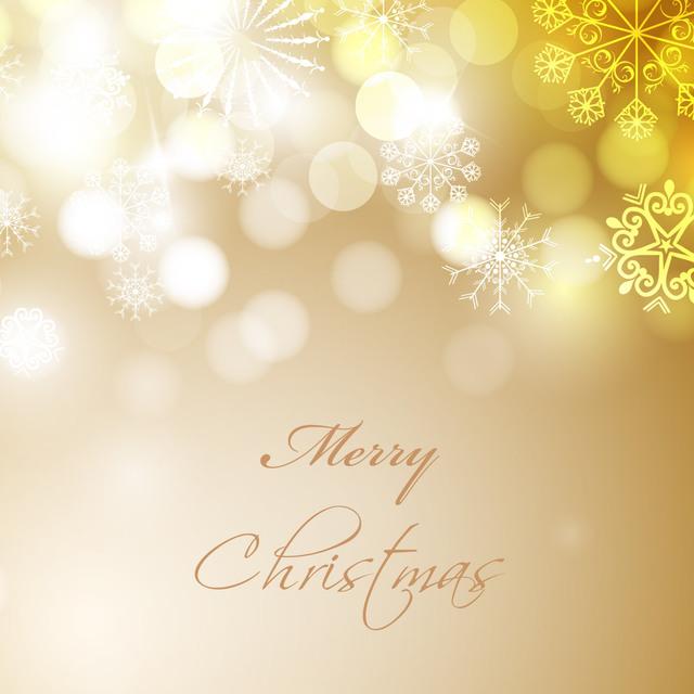 Free Bokeh Glares with Snowflakes Elegant Christmas Background