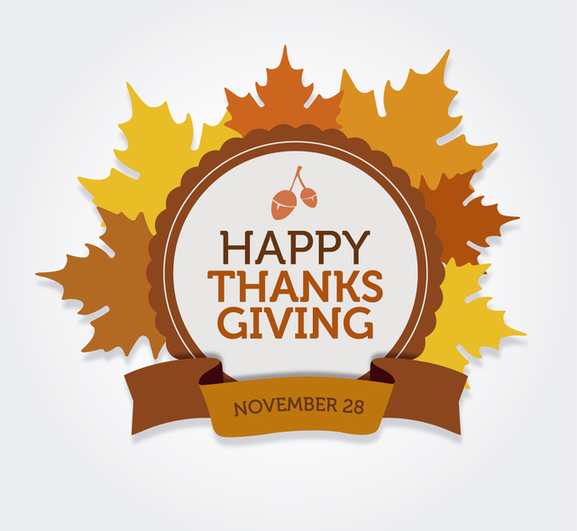 Free Happy Thanksgiving round label