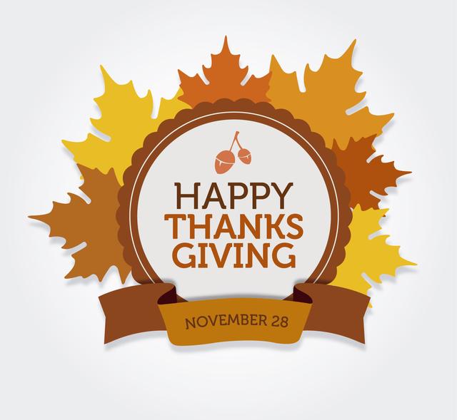 Free Vectors: Happy Thanksgiving round label | Vector Open Stock