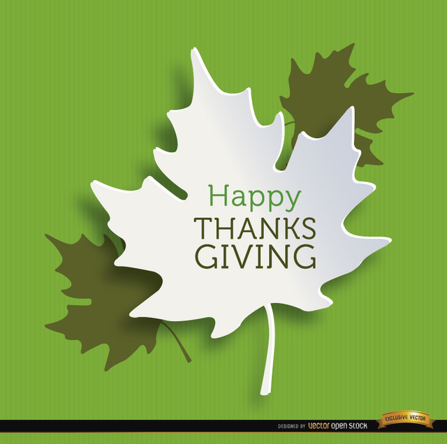 Free Vectors: Happy Thanksgiving leaves background | Vector Open Stock
