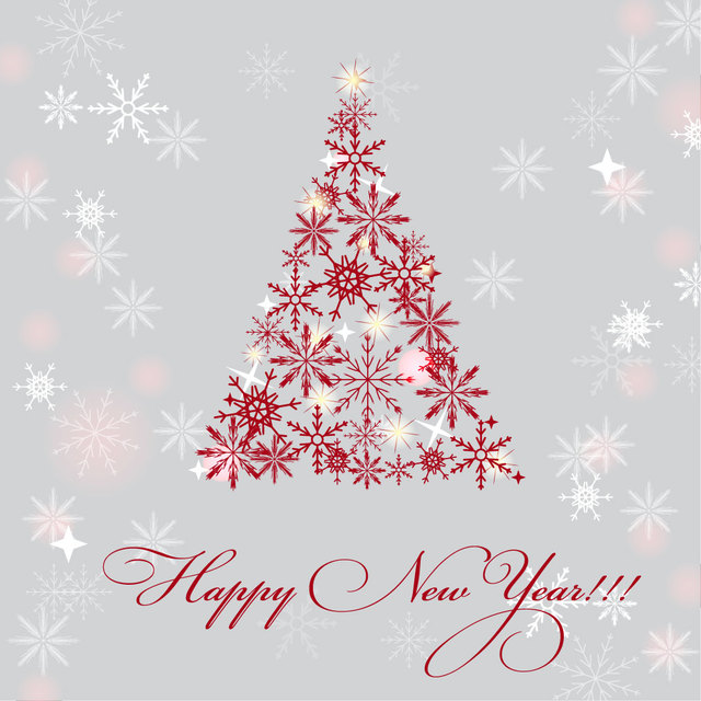 Free Snowflake Christmas Tree New Year Background