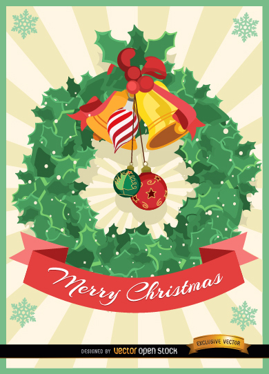 Free Christmas mistletoe ornament card