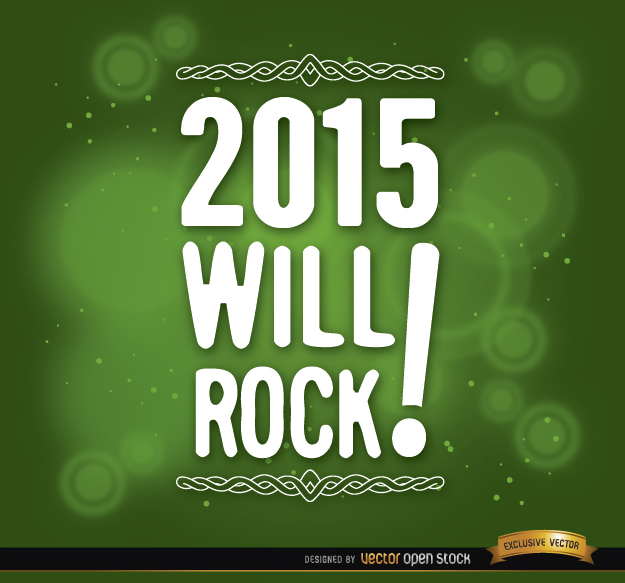 Free 2015 message green background